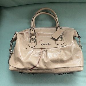 NWOT DAMAGED coach patent leather satchel